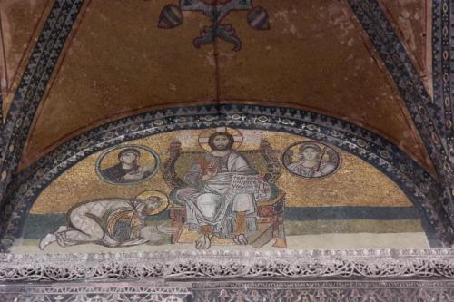 Inside of Hagia Spohia. Reflections from Byzantine era.